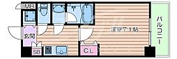おおさか東線 城北公園通駅 徒歩7分の賃貸マンション 5階1Kの間取り