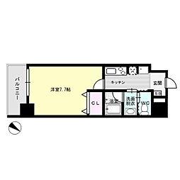 J-PLACE大橋南[3階]の間取り