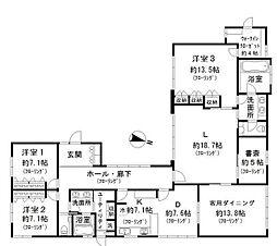 [一戸建] 東京都品川区上大崎3丁目 の賃貸【/】の間取り