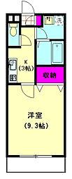 SAKURA RESIDENCE[303号室]の間取り