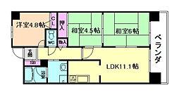 藤和堂島ハイタウン[9階]の間取り
