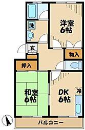 第一ノーブルマンション[3階]の間取り