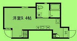 JR山手線 池袋駅 徒歩5分の賃貸アパート 1階ワンルームの間取り