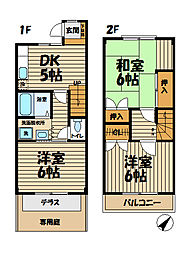 [テラスハウス] 神奈川県横浜市栄区飯島町 の賃貸【神奈川県 / 横浜市栄区】の間取り