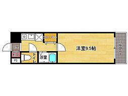 ウイング21高宮[4階]の間取り