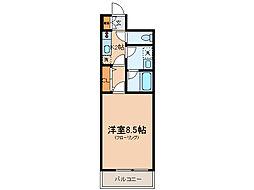 神奈川県横浜市保土ケ谷区星川2丁目の賃貸マンションの間取り