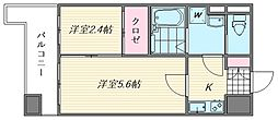 グランフォーレ箱崎ステーションプラザ[1102号室]の間取り