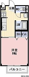 岐阜県瑞穂市本田の賃貸アパートの間取り