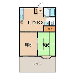 神奈川県横浜市保土ケ谷区初音ケ丘の賃貸アパートの間取り