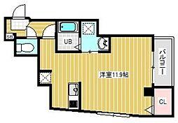 ブライトフューチャー東大島 3階ワンルームの間取り