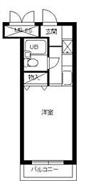 スカイコート宮崎台第3[1階]の間取り