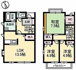 [タウンハウス] 岡山県倉敷市日吉町 の賃貸【/】の間取り