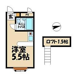 ベルピア鎌倉岩瀬1−2[2階]の間取り