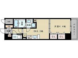 セントロイヤルクラブ新大阪[7階]の間取り