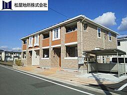 愛知県豊川市谷川町中道の賃貸アパートの外観