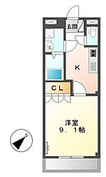 エスポアハイム[2階]の間取り