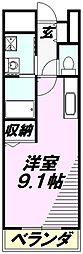 埼玉県所沢市小手指元町3丁目の賃貸アパートの間取り