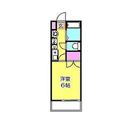 神奈川県横浜市港北区下田町2の賃貸アパートの間取り
