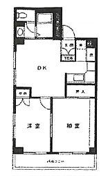 梶ヶ谷リベール[4階]の間取り