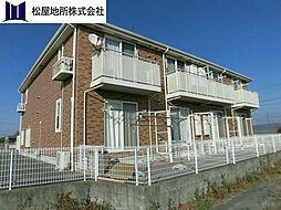 愛知県豊橋市寺沢町字睦美の賃貸アパートの外観