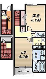 モンテローザ[3階]の間取り