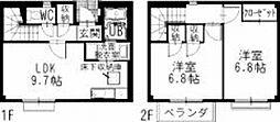 三重県伊勢市小俣町明野の賃貸アパートの間取り