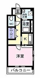 シャンベルジュK☆T[101号室]の間取り