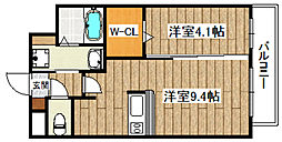 フェア・ソレイユ 3階1LDKの間取り
