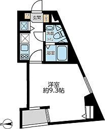 都営浅草線 馬込駅 徒歩5分の賃貸マンション 5階1Kの間取り