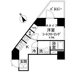 アイディ西五反田(アイディニシゴタンダ) 10階1Kの間取り