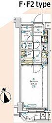 JR中央線 西荻窪駅 徒歩6分の賃貸マンション 1階1Kの間取り