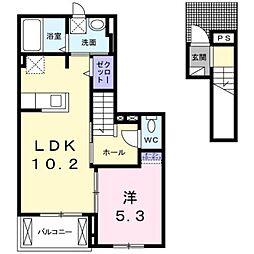 アクアポルタ[2階]の間取り