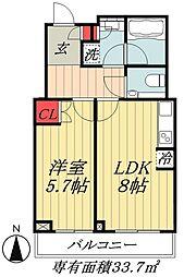 JR総武線 本八幡駅 徒歩2分の賃貸マンション 6階1DKの間取り
