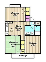 レイクサイドハウス[1階]の間取り
