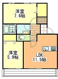 yukoto[A106号室]の間取り