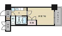 ローズコーポ新大阪9[10階]の間取り