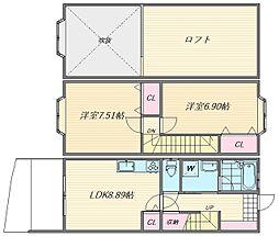 夏井荘 A[106号室]の間取り