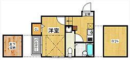 ベネフィスタウン箱崎東5[103号室]の間取り