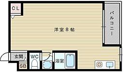 ココモハイツ[1階]の間取り