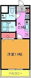 千葉県船橋市湊町2の賃貸マンションの間取り