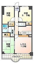 愛知県岡崎市能見通2丁目の賃貸マンションの間取り