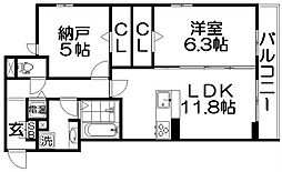 仮称)D-room南中振2丁目[3階]の間取り
