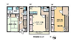 興宮町戸建B棟 3階3DKの間取り