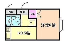 グローイングハウス[1階]の間取り