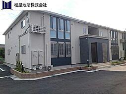 愛知県豊川市三蔵子町西浦の賃貸アパートの外観