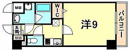 JR東海道・山陽本線 西宮駅 徒歩12分の賃貸マンション 1階1Kの間取り