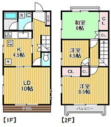 [テラスハウス] 東京都杉並区阿佐谷北3丁目 の賃貸【東京都 / 杉並区】の間取り