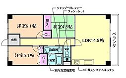 シャルマンド箕面[2階]の間取り