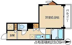 OKUNO御所東ビル[4階]の間取り