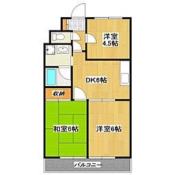 柴又第2STマンション[1階]の間取り
